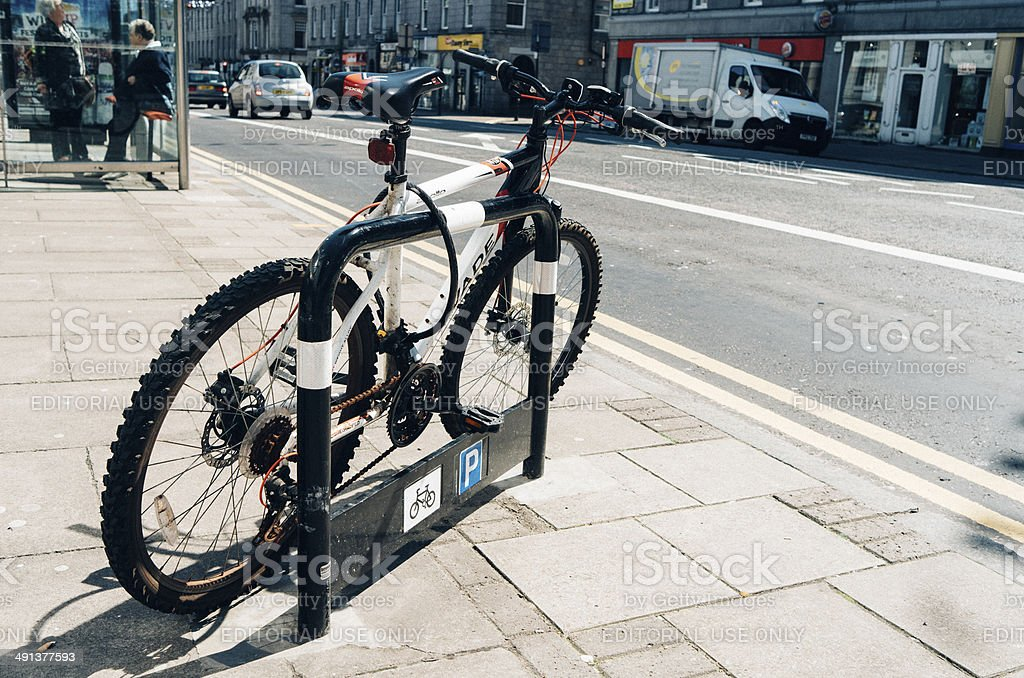 Bicycle security royalty-free stock photo