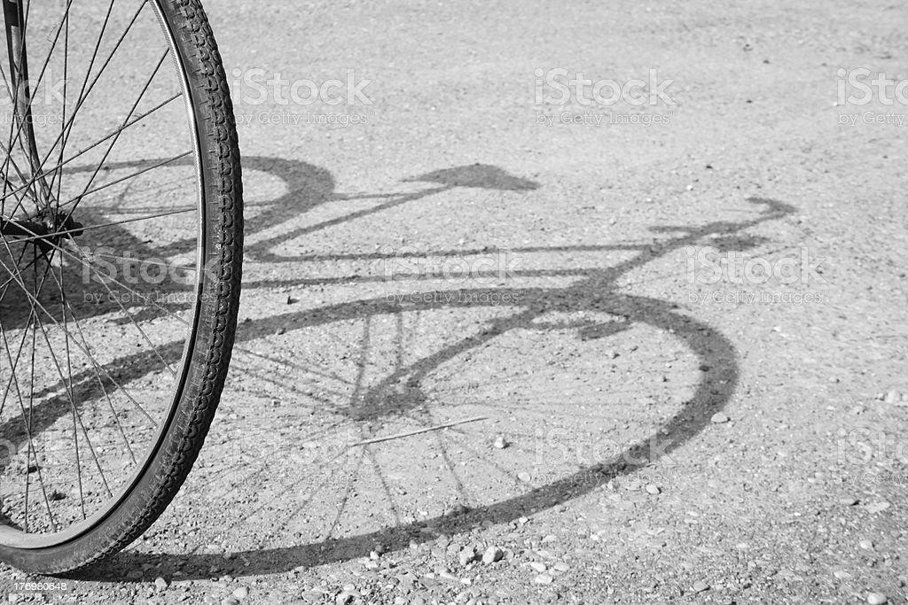 자전거 shadow royalty-free 스톡 사진