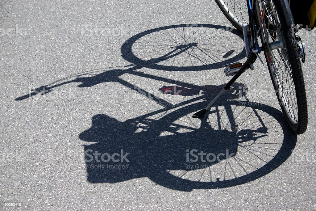 Bicycle Shadow royalty-free stock photo