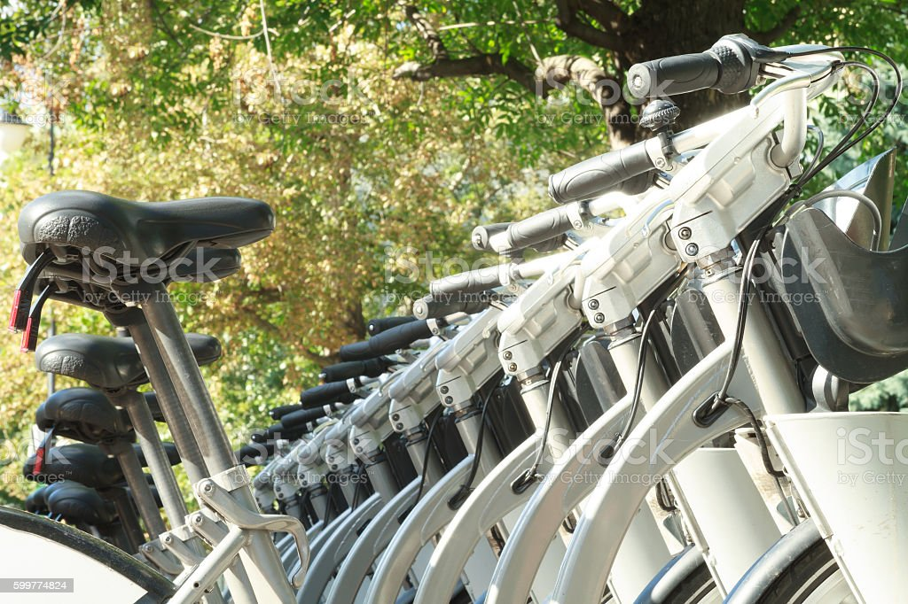 Bicycle Sharing System. stock photo