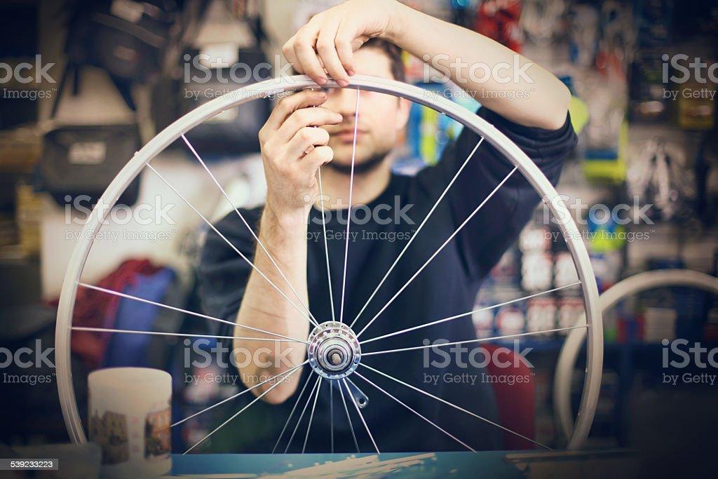 Bicycle shop. stock photo