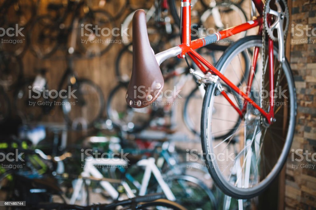 Bicycle Shop stock photo