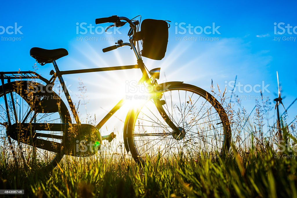 Bicycle silhouette stock photo