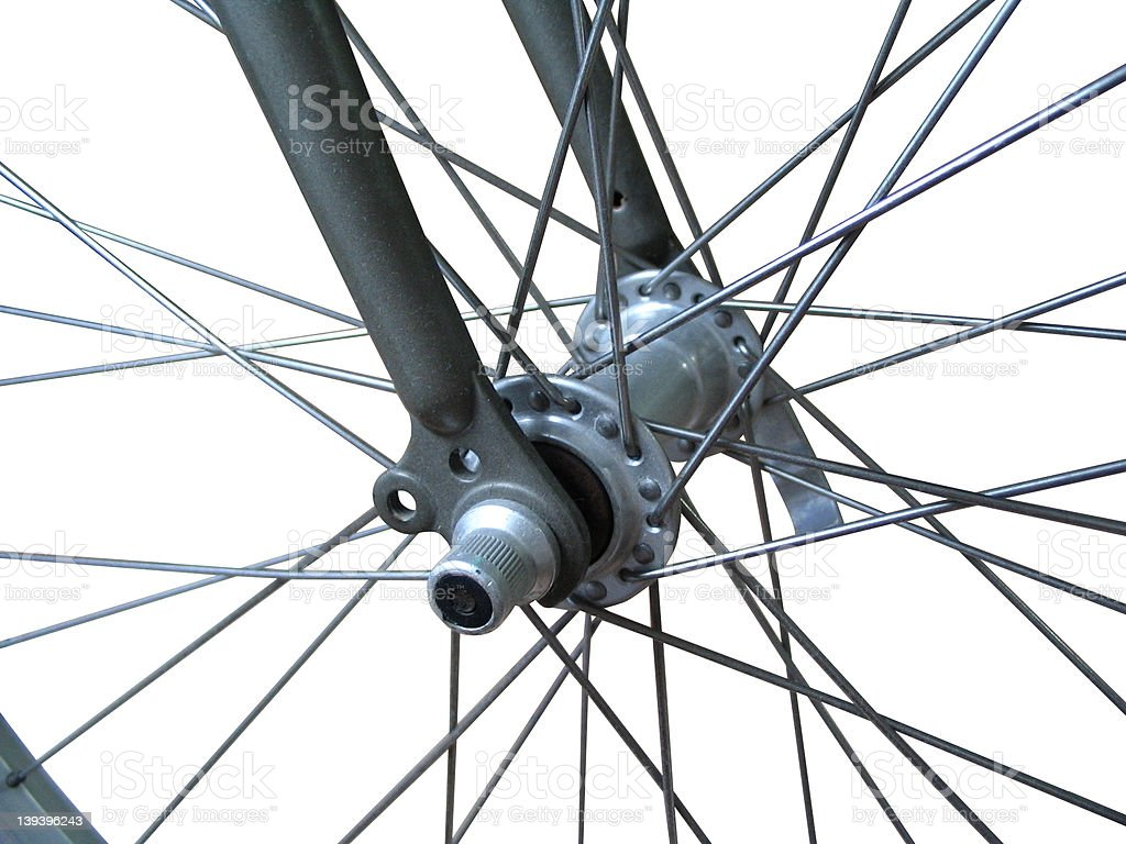 Bicycle spokes (isolated) royalty-free stock photo