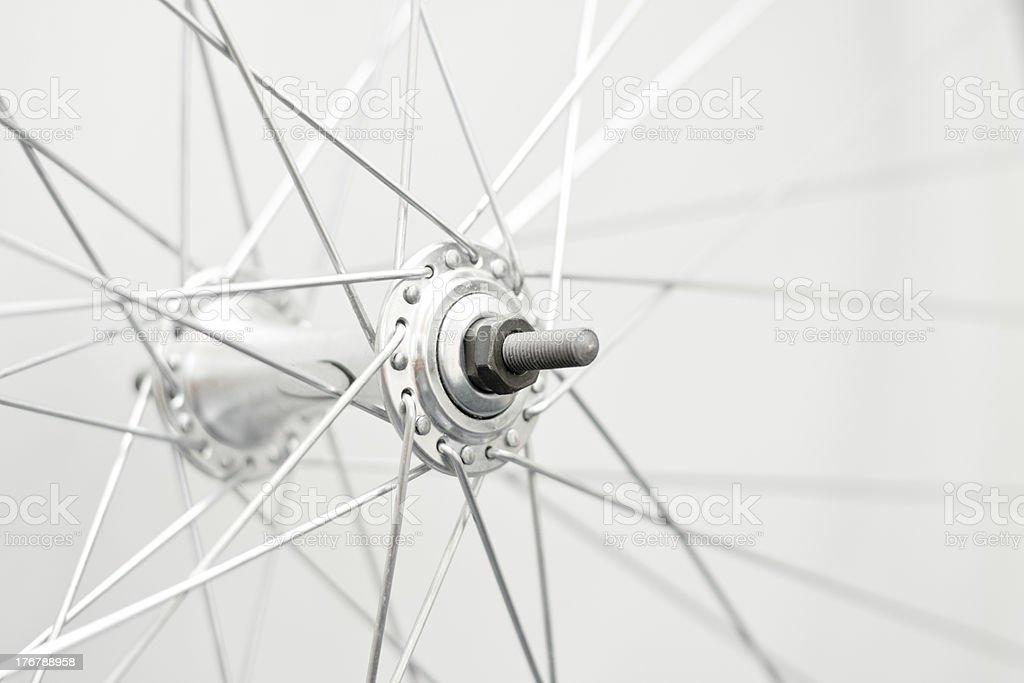 Bicycle spokes stock photo