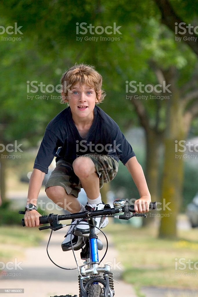 Bicycle Stunt royalty-free stock photo