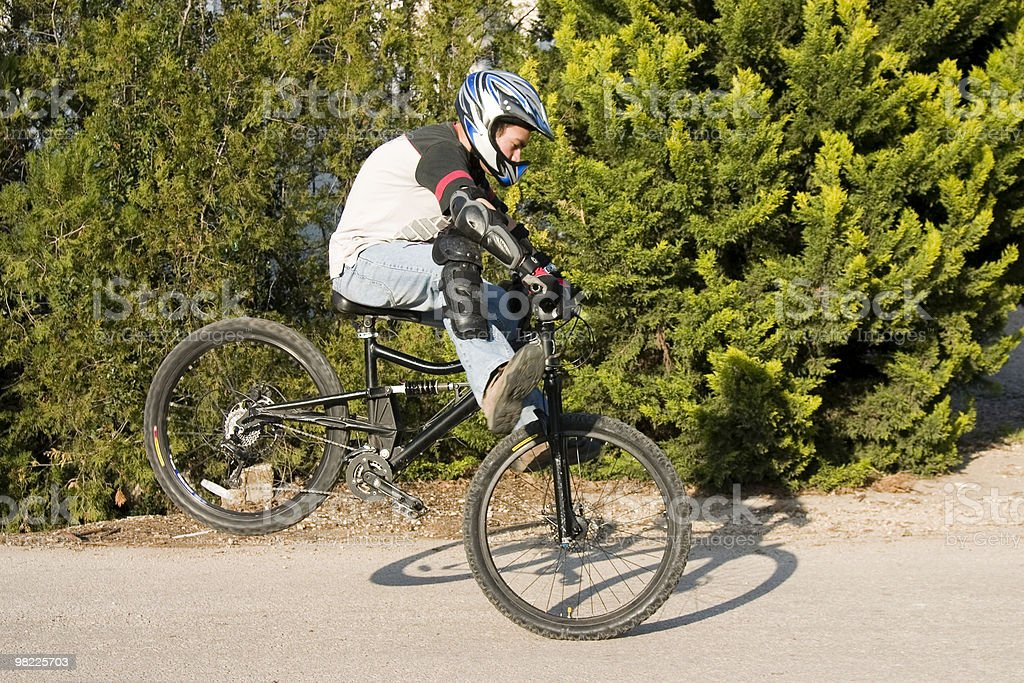 Bicycle stunt riding royalty-free stock photo