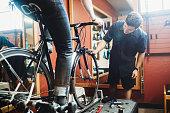 Bicycle Technician Fitting Bike