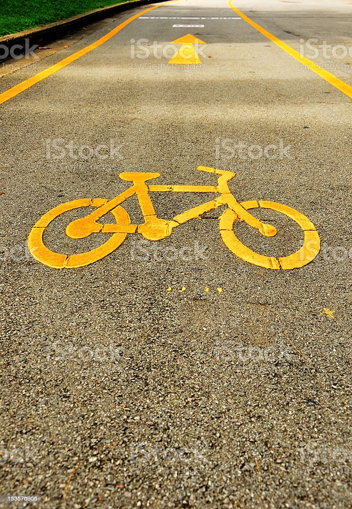 Bicycle track in Lumpini Garden Bangkok royalty-free stock photo