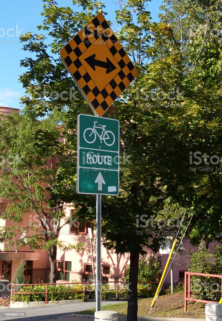 Bicycle traffic sign stock photo