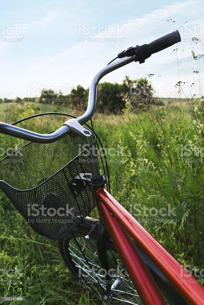 Bicycle trip stock photo