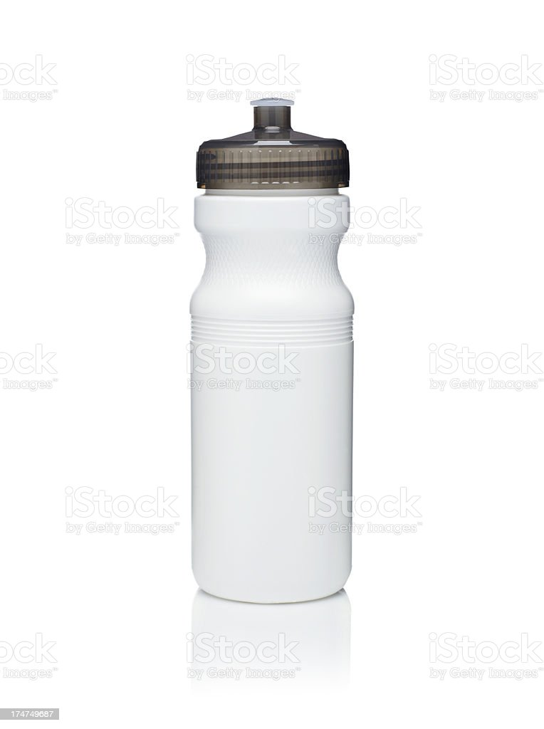Bicycle Water Bottle on white background stock photo