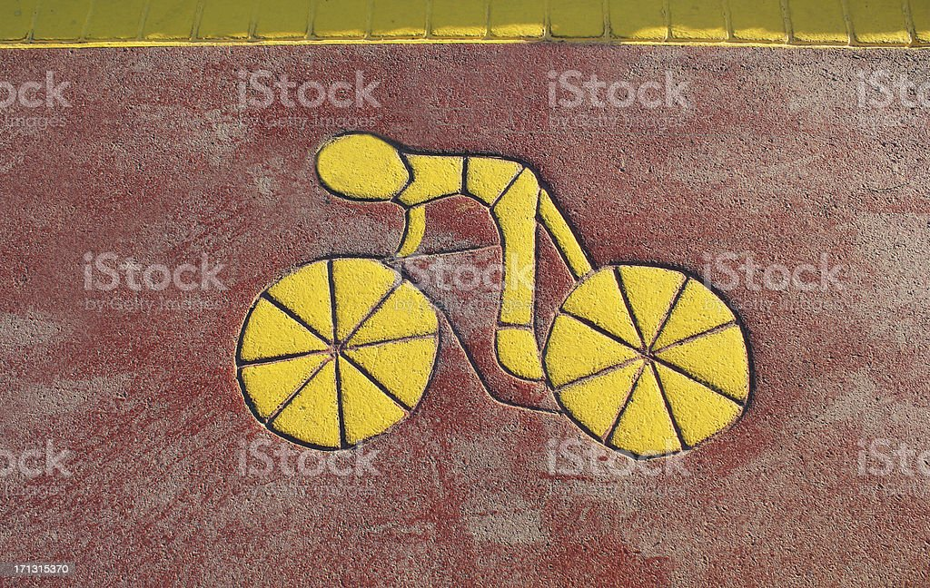 Bicycle Way royalty-free stock photo