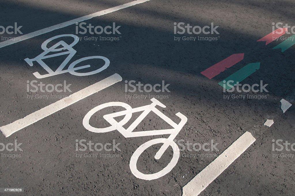 Bicycle way stock photo