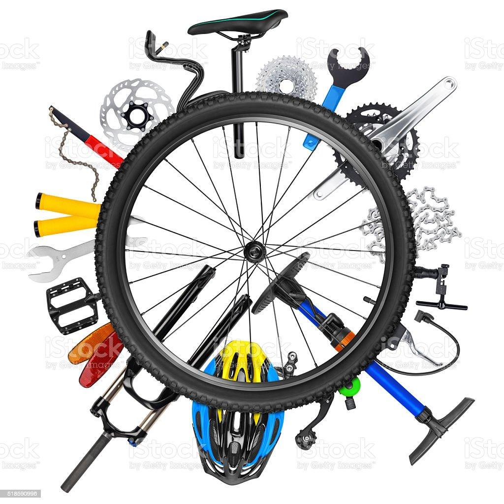 bicycle wheel concept stock photo