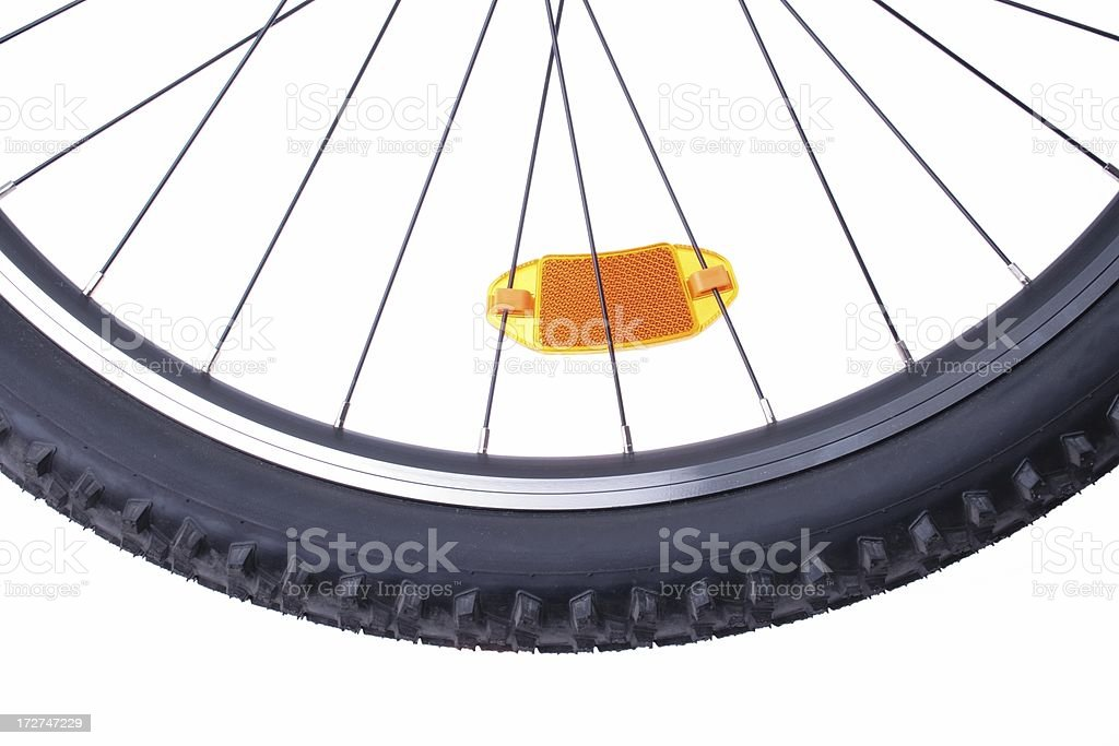 bicycle wheel with cat's-eye royalty-free stock photo