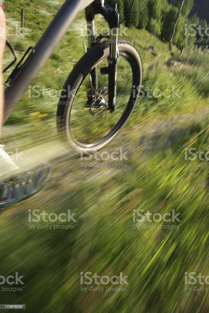 Bicycle wheel with motion blur royalty-free stock photo