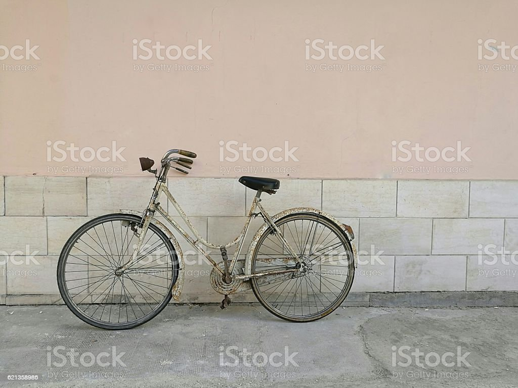 bicycle with brakes wand stock photo