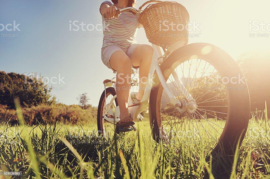 bicycle woman stock photo