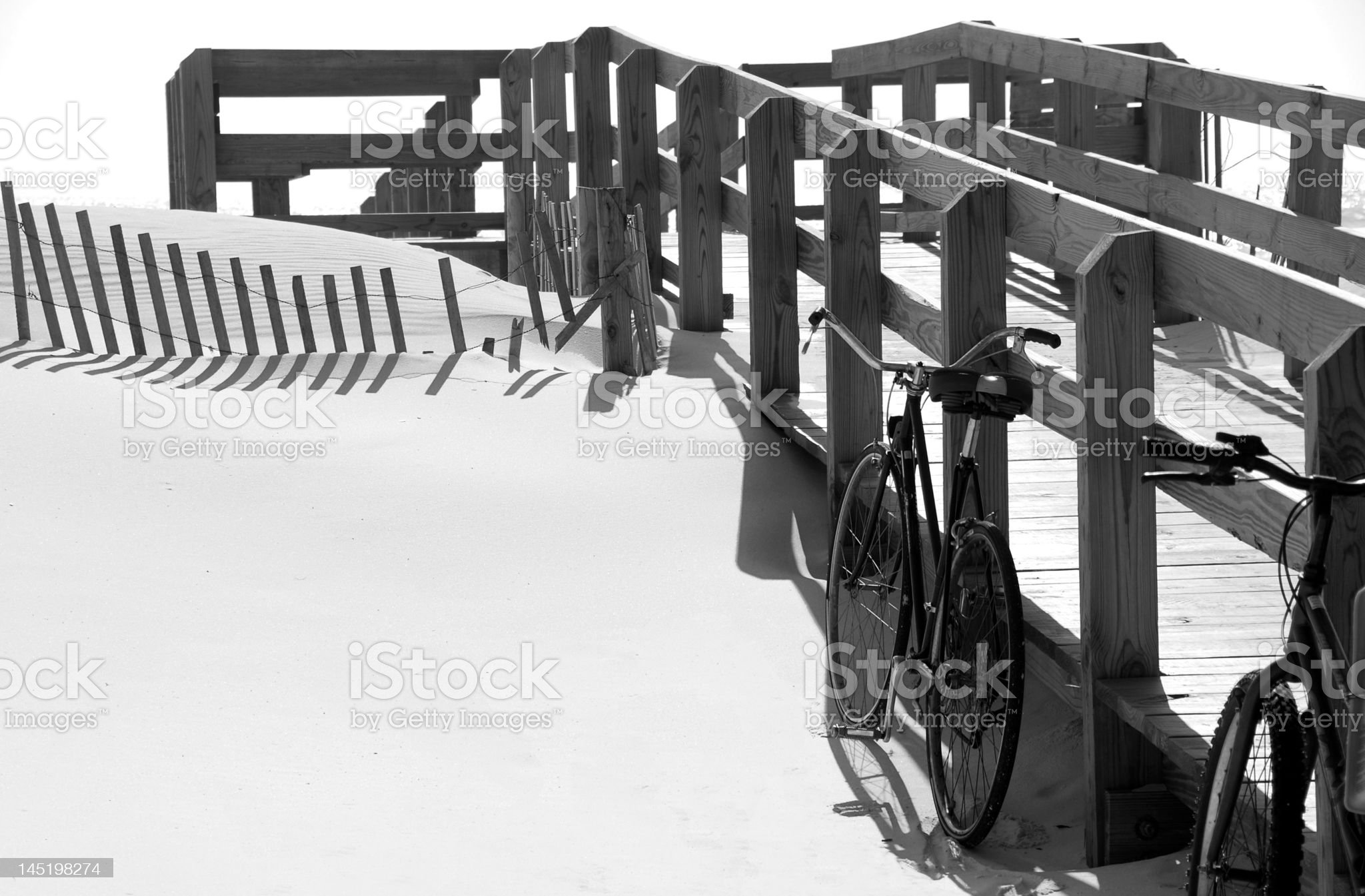 Bicycles at Beach royalty-free stock photo