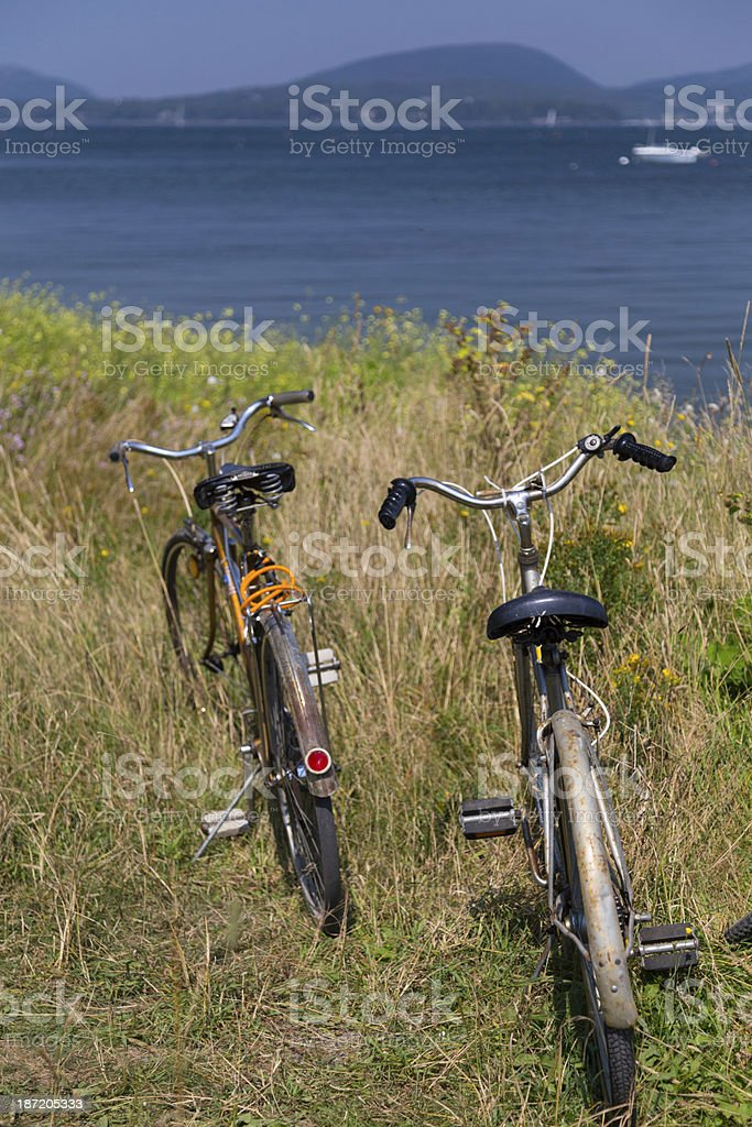 Bicycles at the Shore royalty-free stock photo