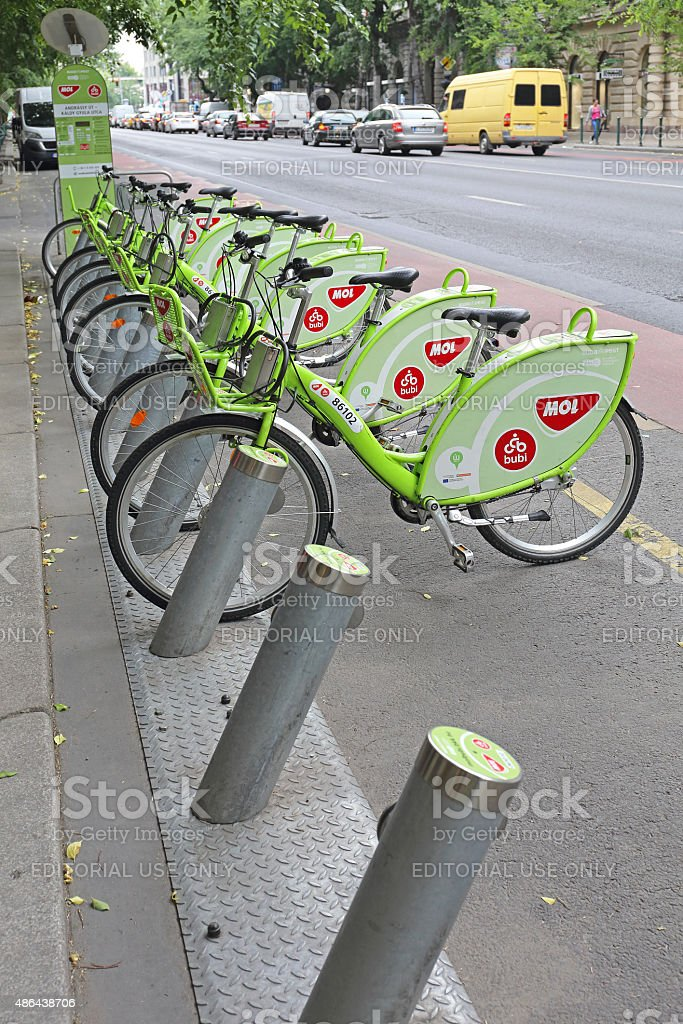 Bicycles Budapest stock photo