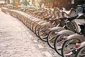 Bicycles for rent in Paris