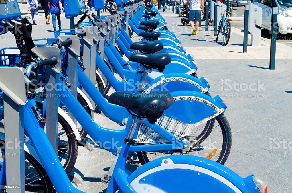Bicycles For Rent stock photo