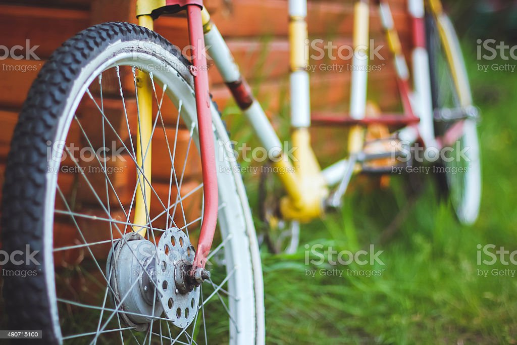 Bicycles for two passengers, the tandem stock photo