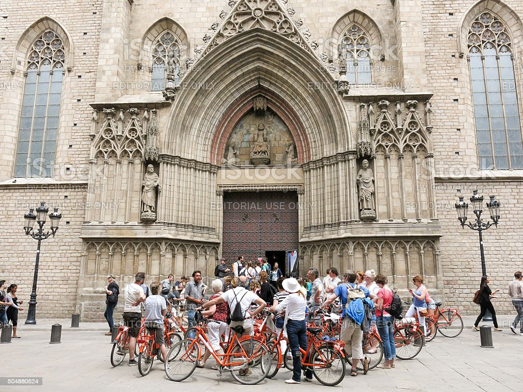 Bicycles in Barcelona stock photo