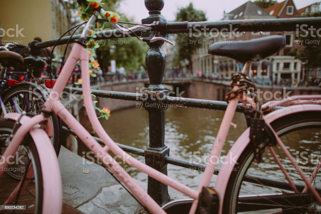 Bicycles of Amsterdam stock photo