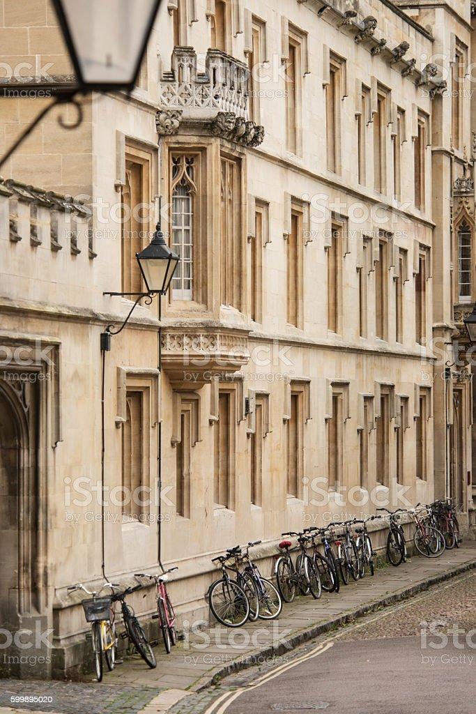 Bicycles on Oxford street, UK stock photo