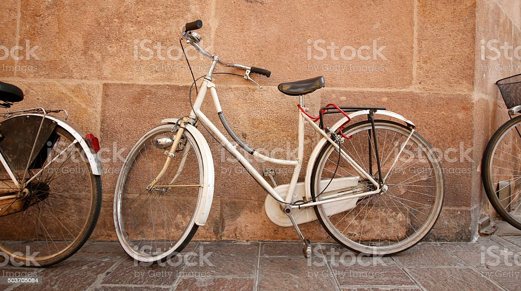 Bicycles on standby stock photo