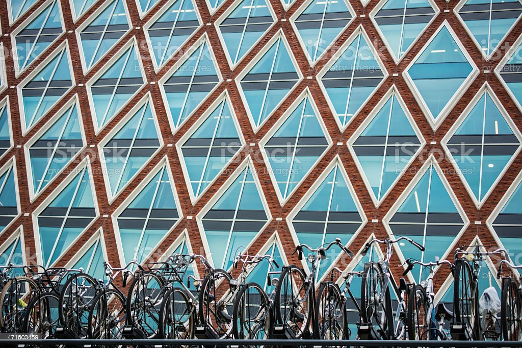 Bicycles ready to launch royalty-free stock photo