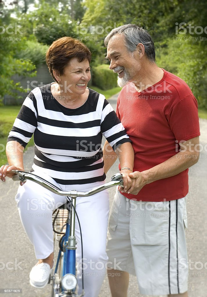 bicycling royalty-free stock photo