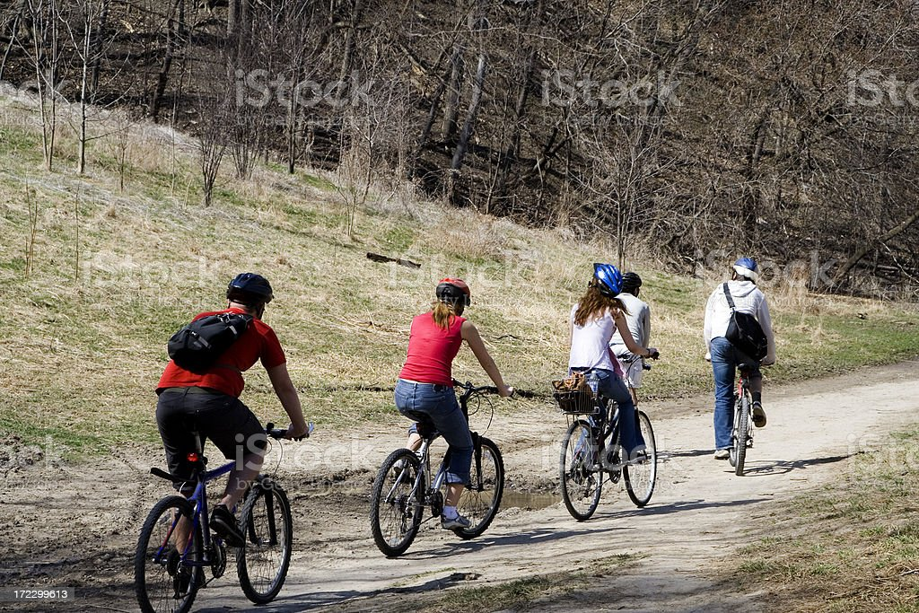 Bicycling Team royalty-free stock photo