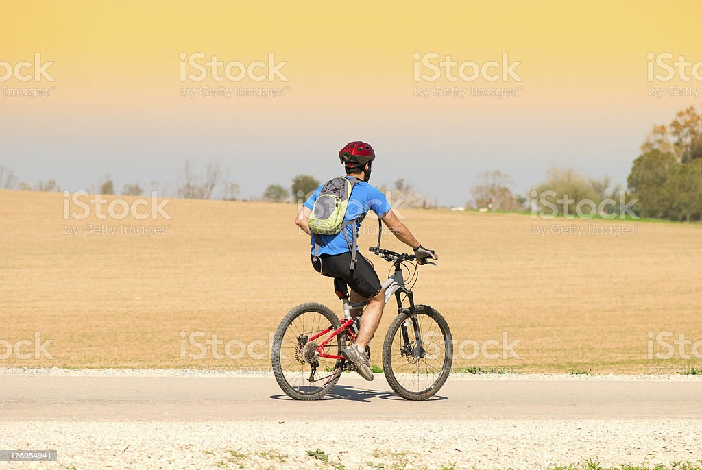 bicyclist royalty-free stock photo