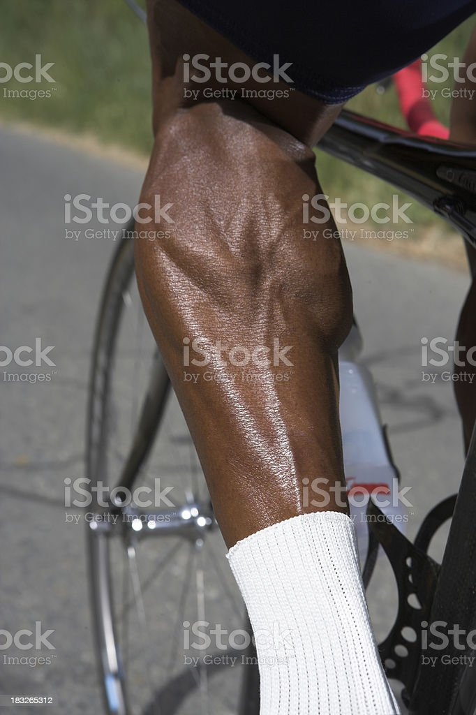 Bicyclist Racer Strong Athlete Exercise Workout Fitness royalty-free stock photo