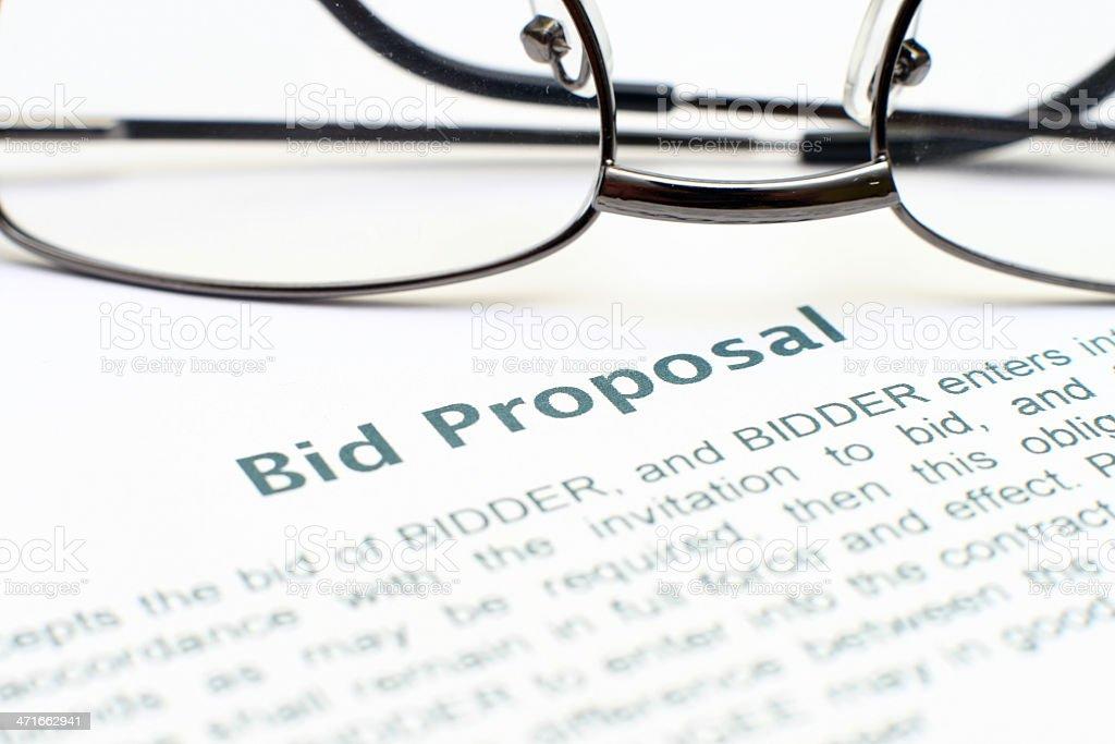 Bid proposal form royalty-free stock photo