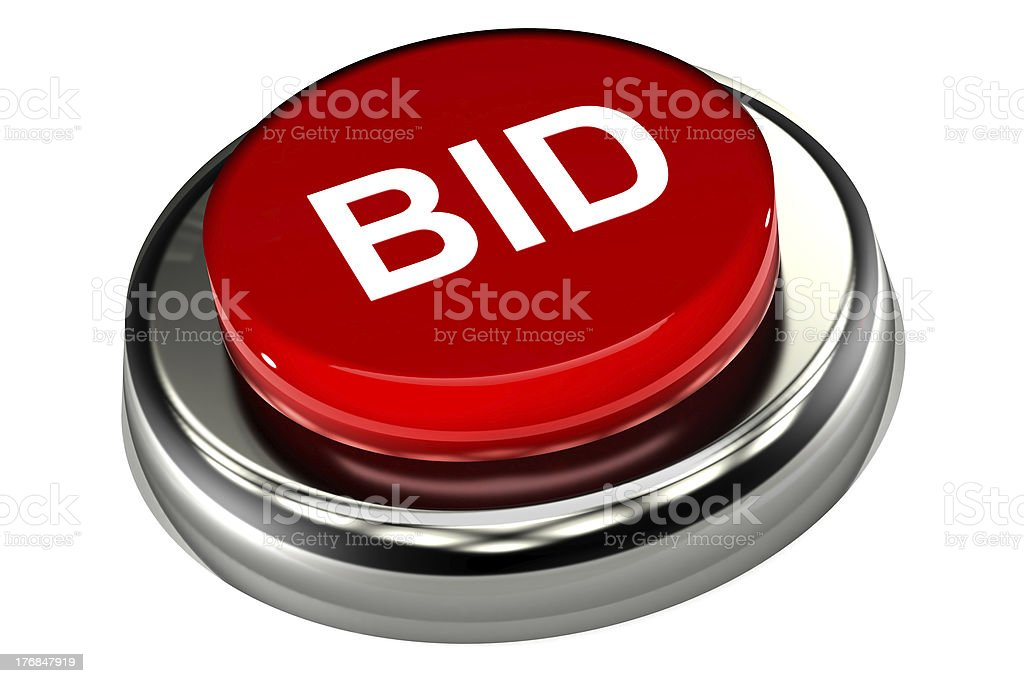 Bid Push Button royalty-free stock photo