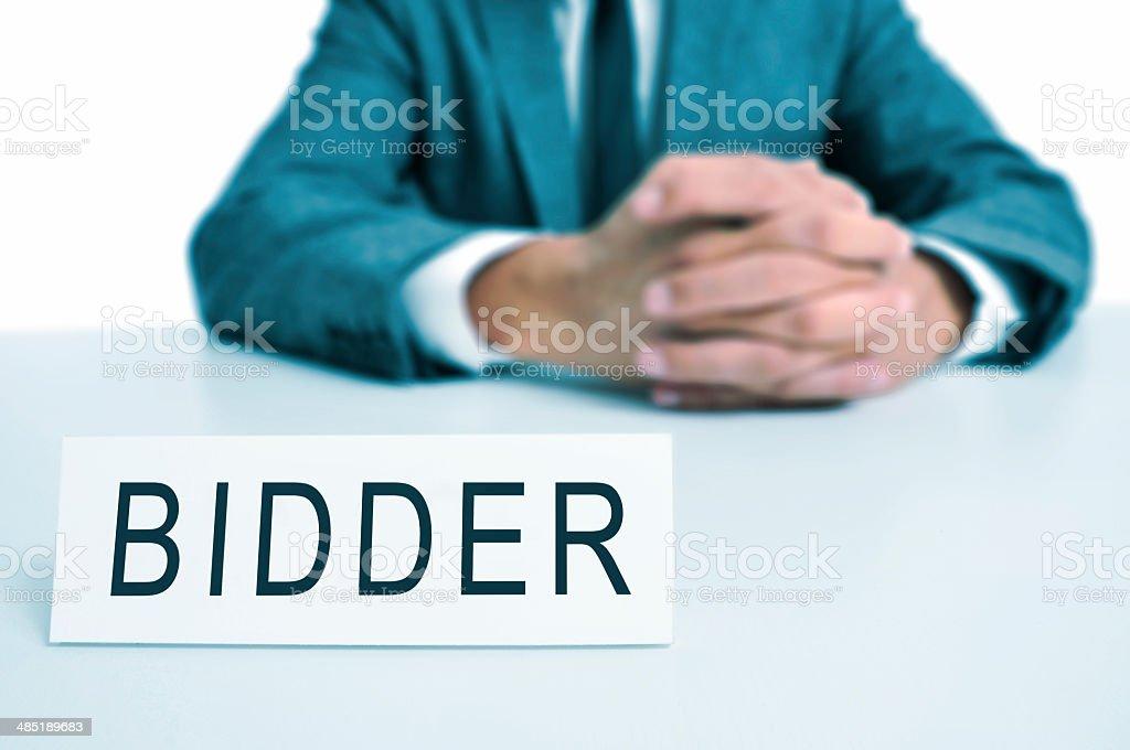 bidder stock photo