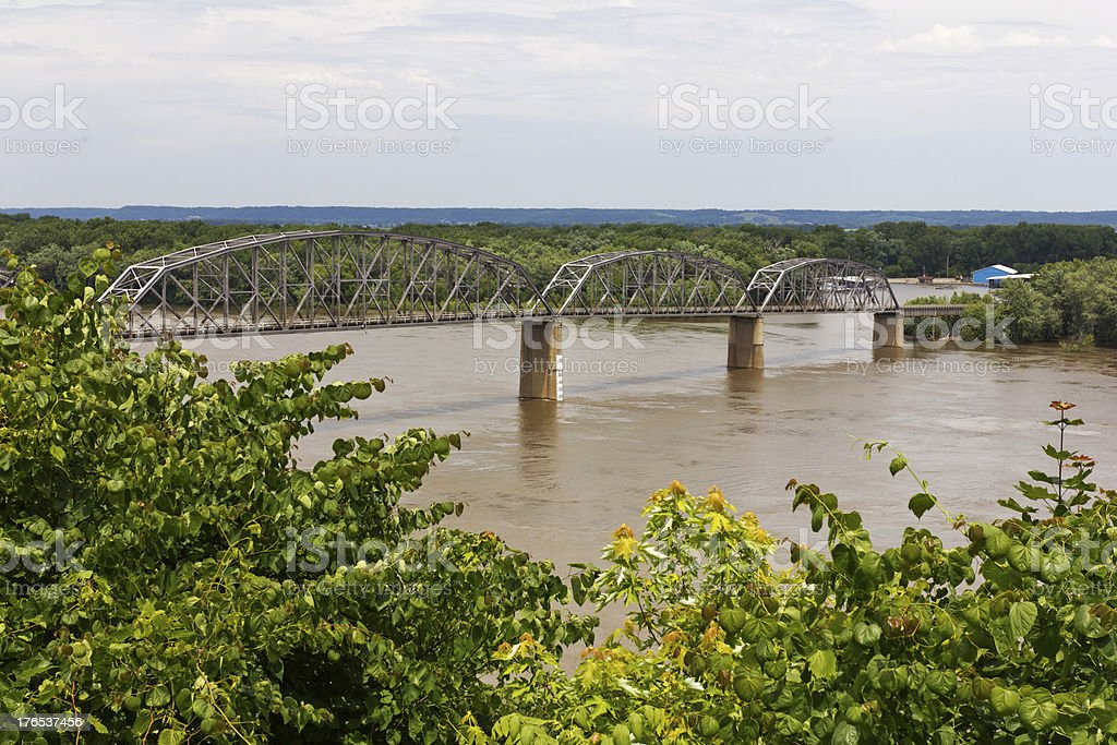 Bidge over the Mississippi River royalty-free stock photo