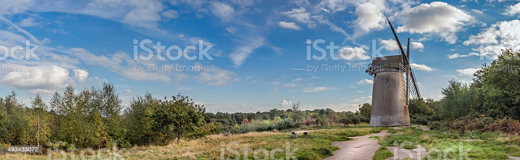 Bidston hill windmill in the uk. stock photo