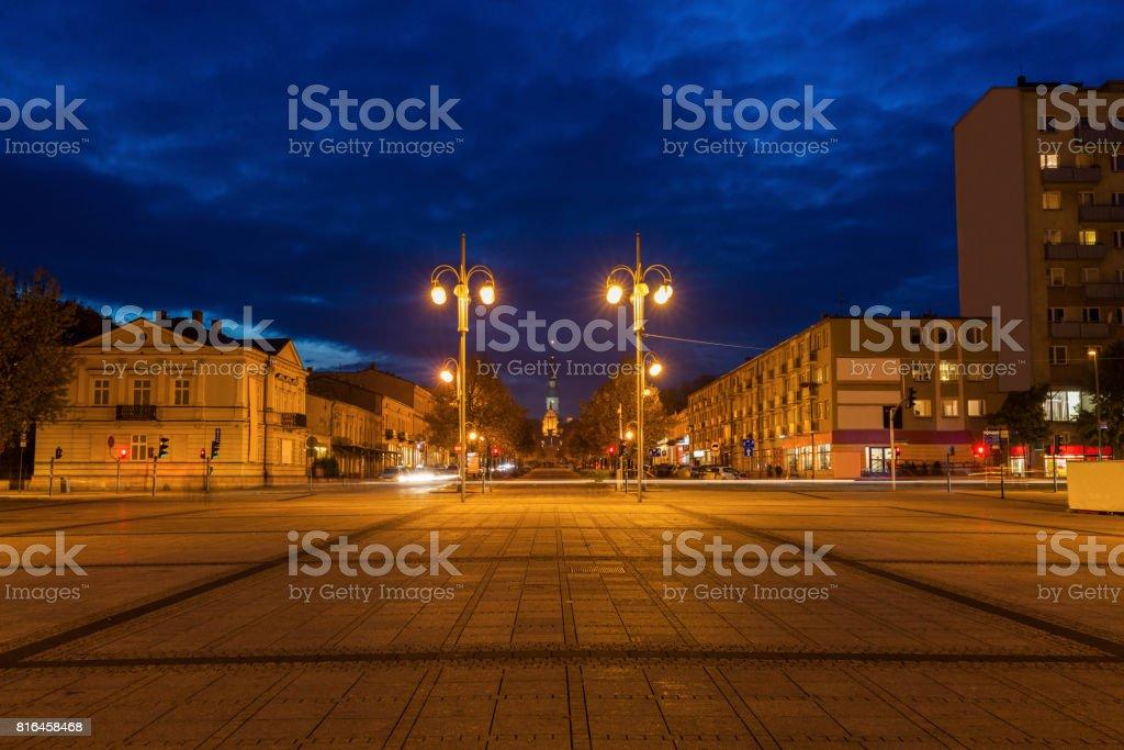 Bieganski Square in Czestochowa stock photo
