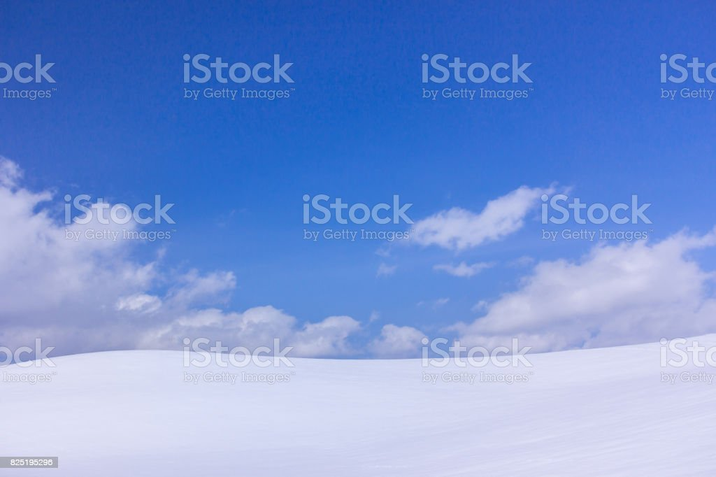 Biei in winter stock photo