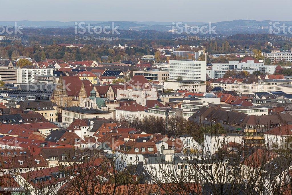 bielefeld germany cityscape stock photo