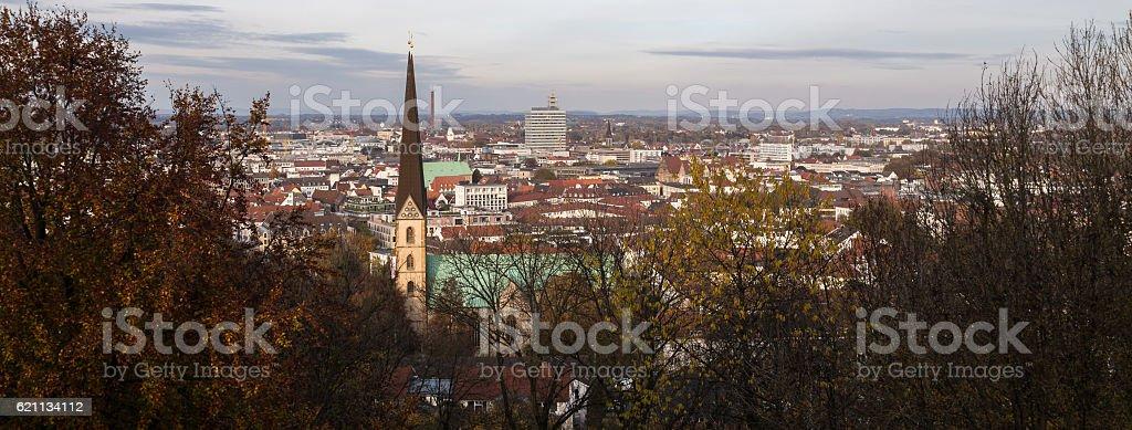 bielefeld germany panoramic cityscape stock photo