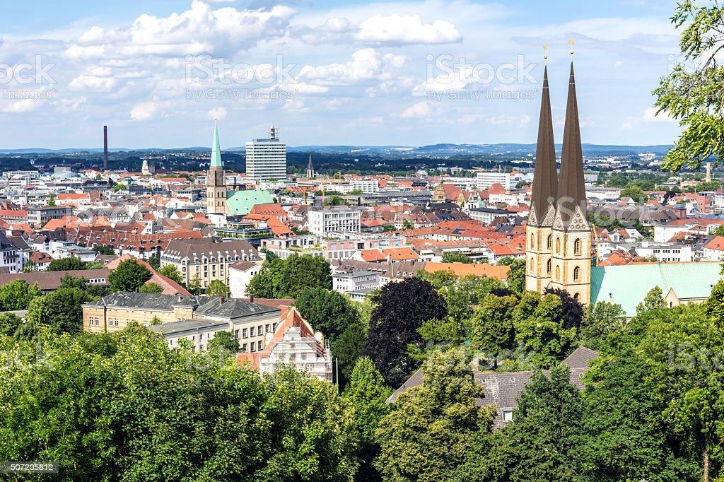 Bielefeld Skyline stock photo