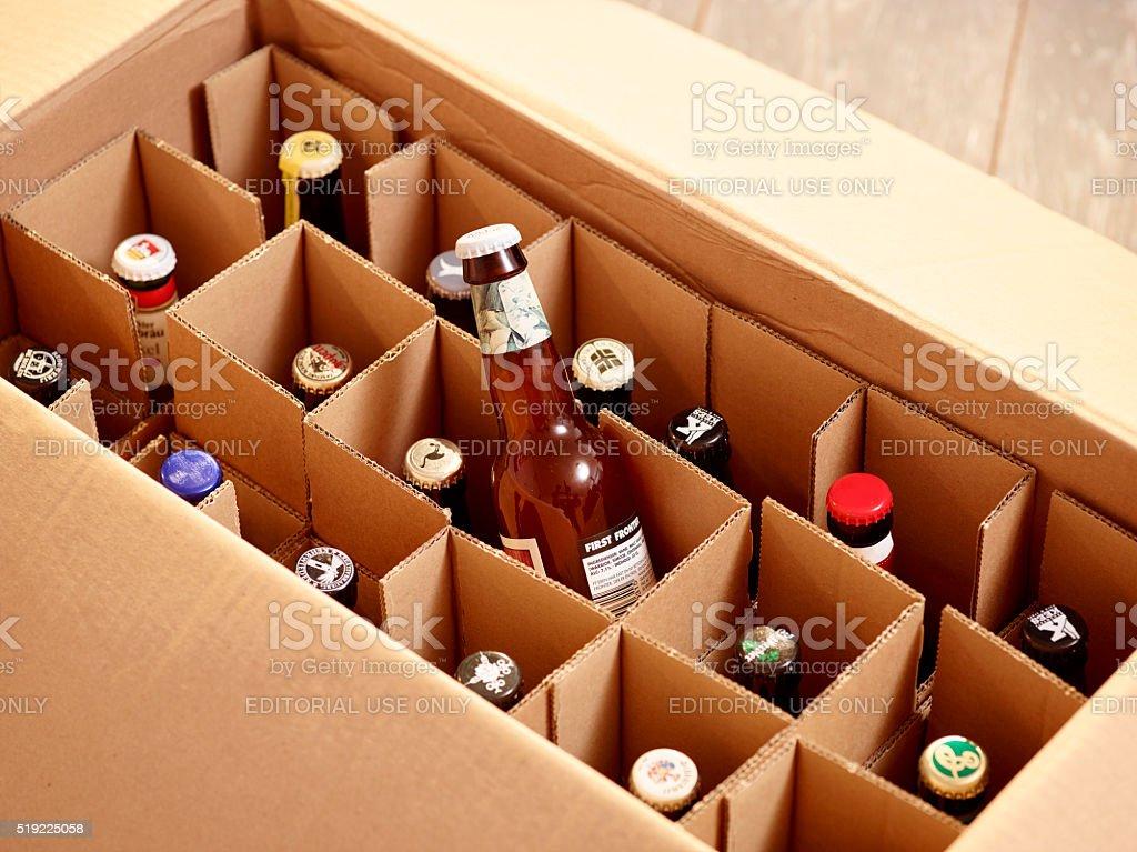 Bier online kaufen. Per Post oder Versand liefern lassen stock photo