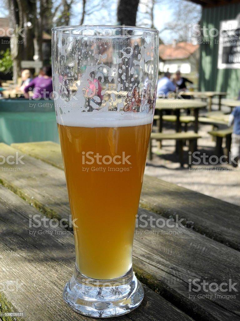 Biergarten im Frühling stock photo